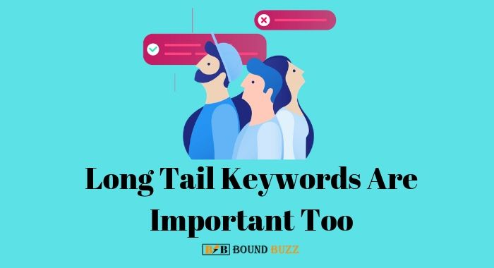 long tail keywords also important too