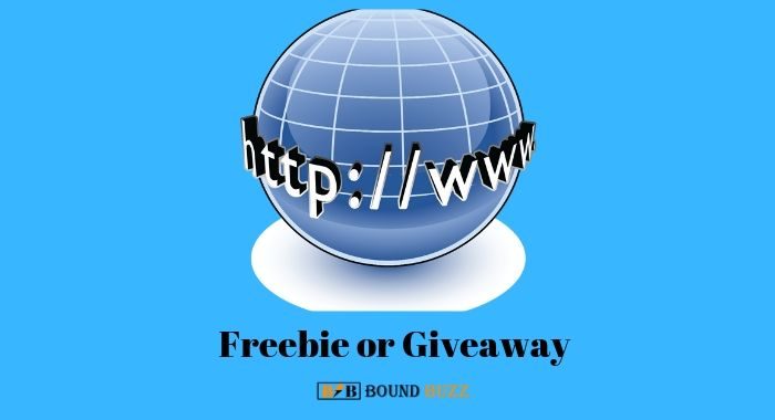 Freebie or Giveaway increase traffic on website