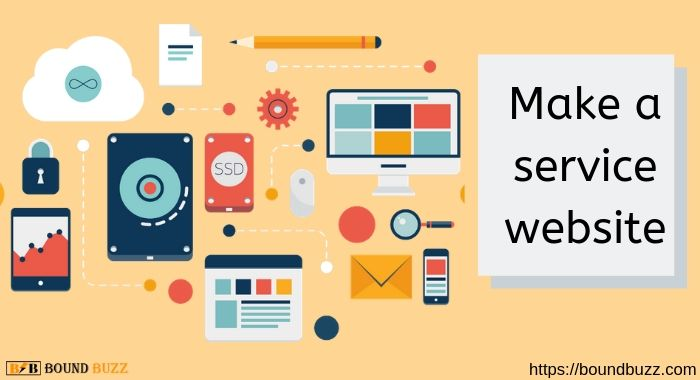 Make a service website