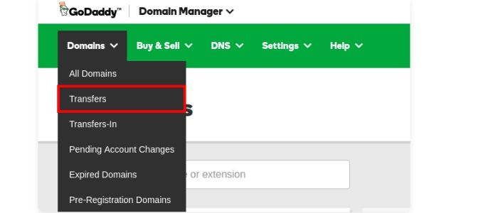 DOmain select transfer