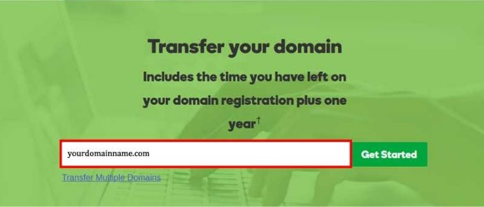 transfer your domain to Godaddy