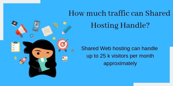 How much traffic shared hosting handle