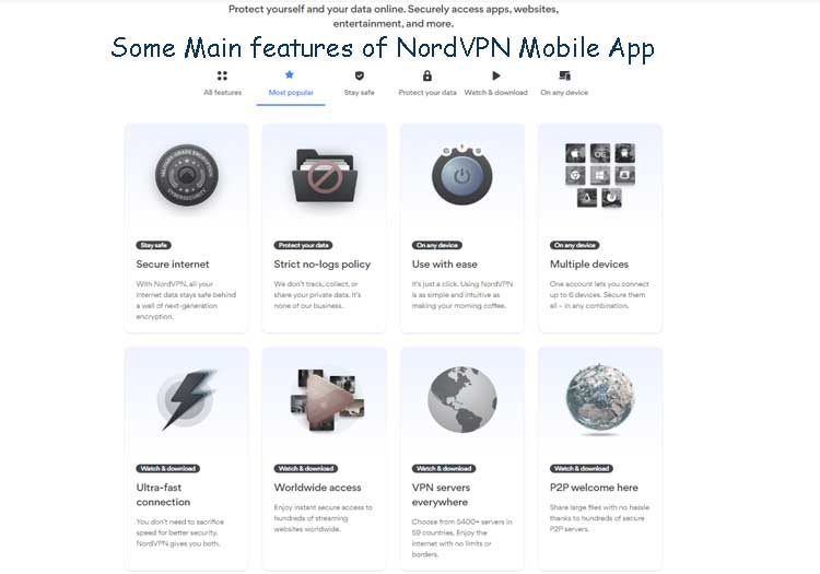 Some-Main-features-of-NordVPN-Mobile-App