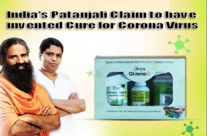 India's Patanjali Claim to have invented Cure for Corona Virus