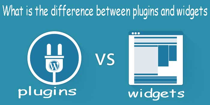 What is the difference between plugins and widgets