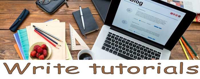 Write-tutorials