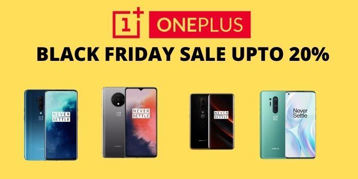 Upto 20% on OnePlus Black Friday Sale
