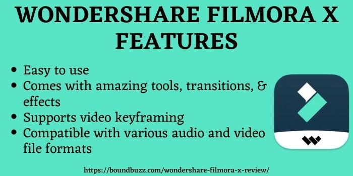 Wondershare Filmora X features