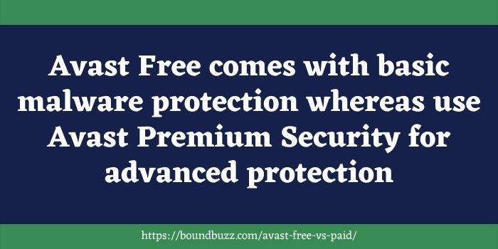 Avast Paid vs Free Antivirus