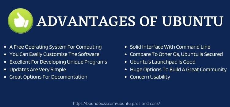 advantages of ubuntu