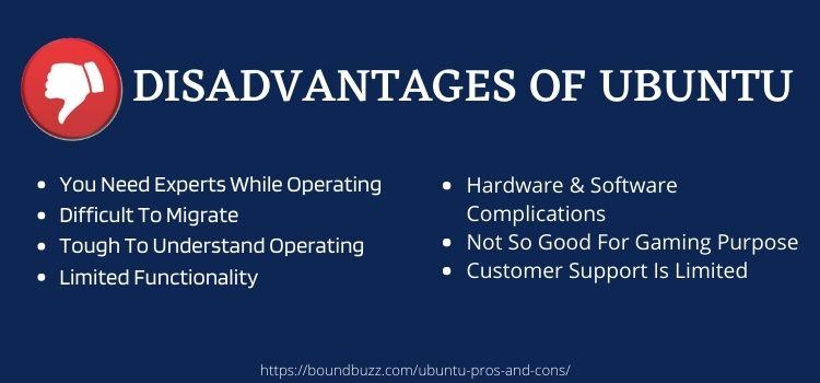 disadvantages of ubuntu