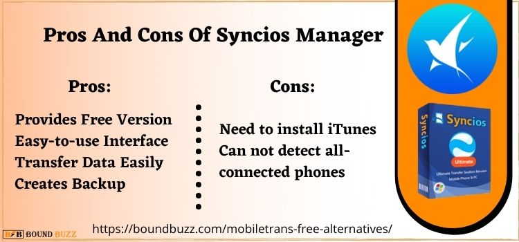 Pros And Cons Of Syncios Manager