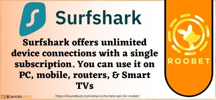 Surfshark roobet detecting VPN