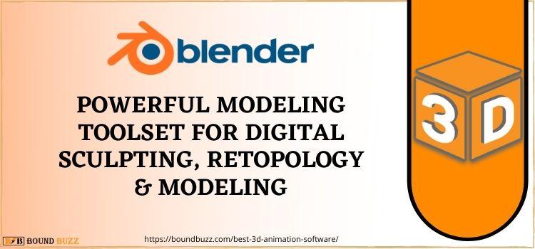 Blender best 3D animation program